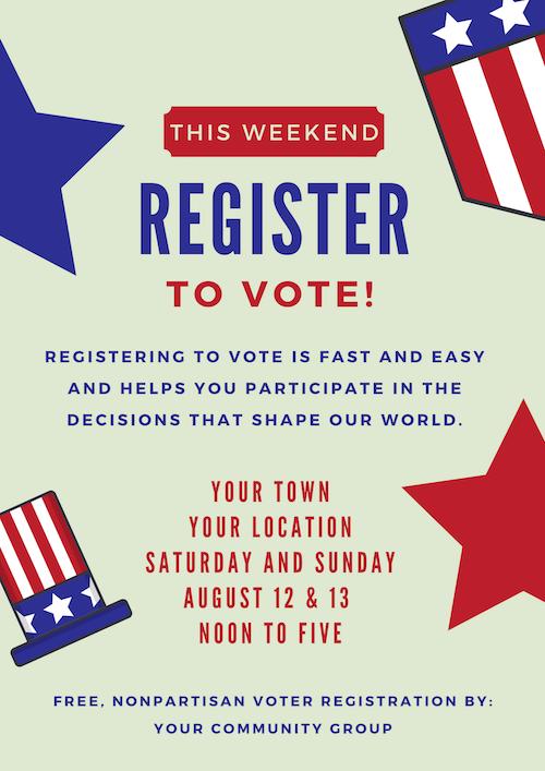 voter registration drive kit election tools