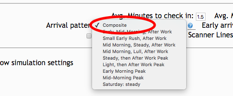 Instead of the composite, you can select a specific arrival pattern in a drop-down box