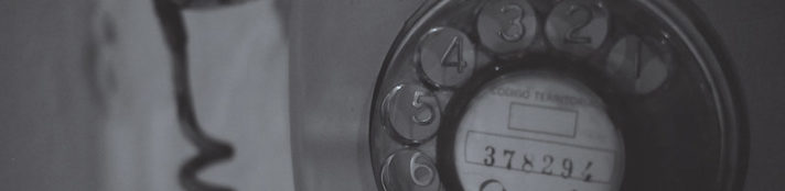 Close-up of old-fashioned dial telephone