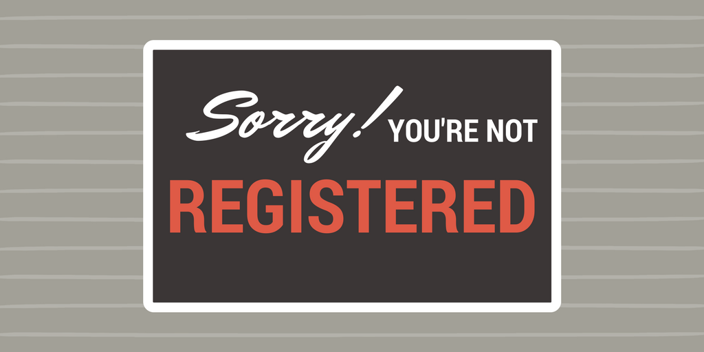 Sorry, you're not registered