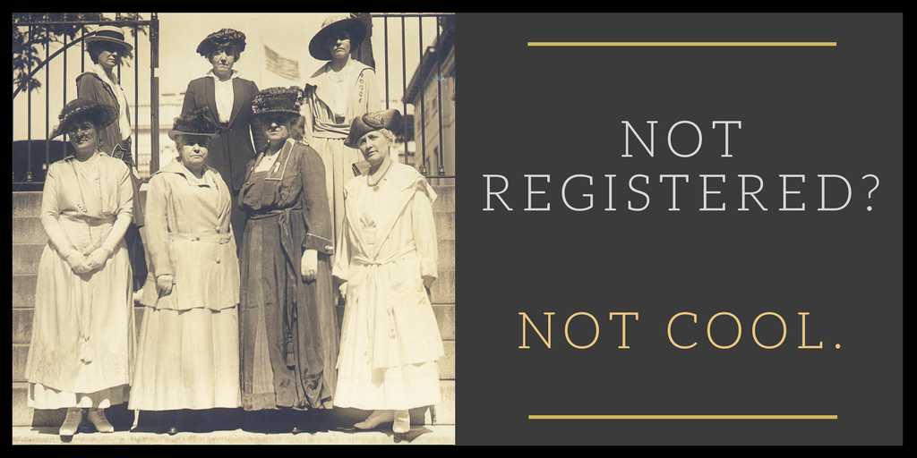 If you're not registered, that's not cool