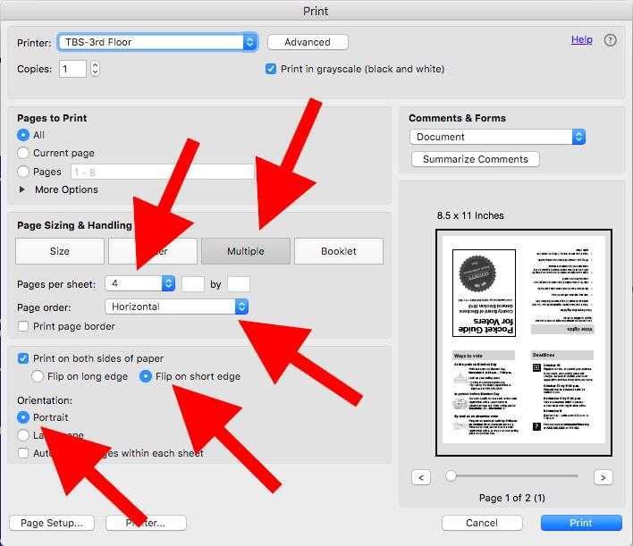 print pdf on multiple pages adobe reader